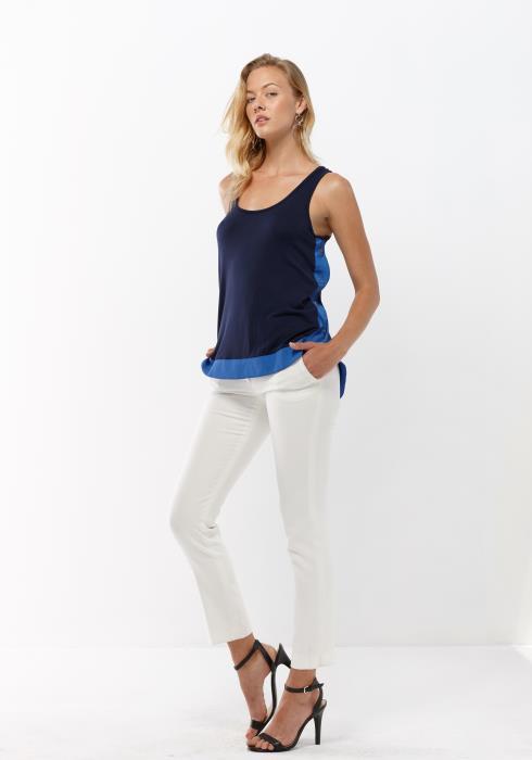 Pleione Women Clothing Button Down Side Tank