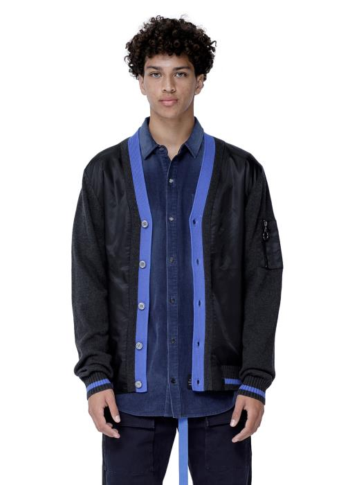 Konus Cardigan with Polyester Panel