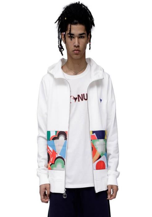 Konus Zip Up Hoodie with Contrast pocket