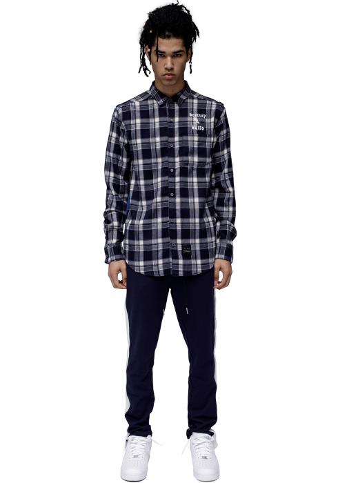 Konus Long Sleeve Flannel Shirt With Side Panel