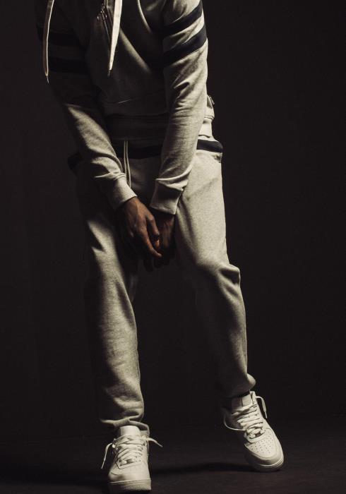 Konus Sweatpants with Contrast Color Stripes
