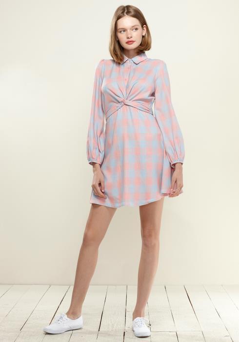 Nurode Button Up Shirt Dress