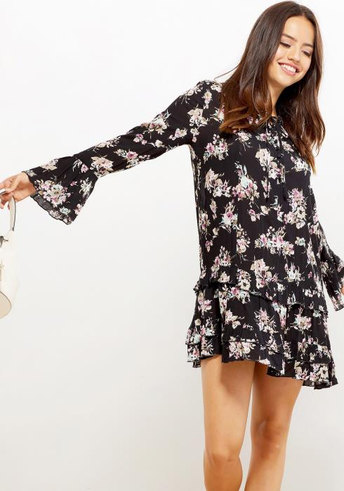 Ro&De Ruffle Hem Floral Women Clothing Dress
