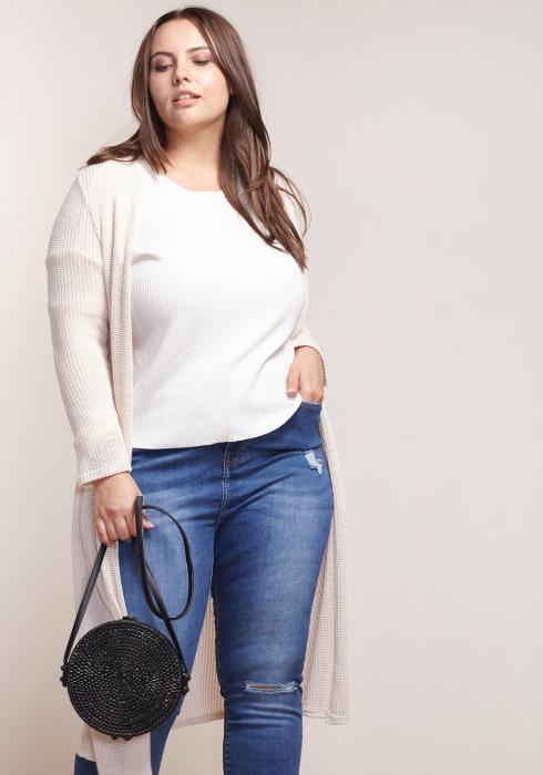 Asoph Plus Size Women Clothing Long Cardigan