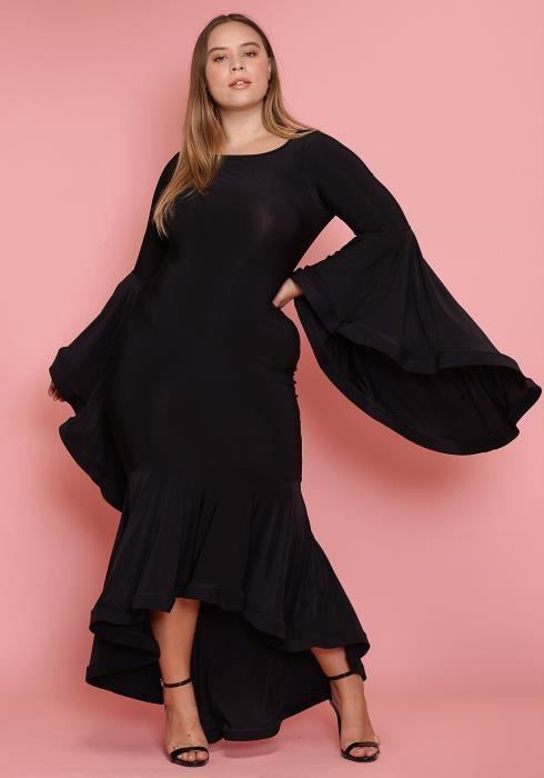 Asoph Plus Size Dramatic Flared Dress