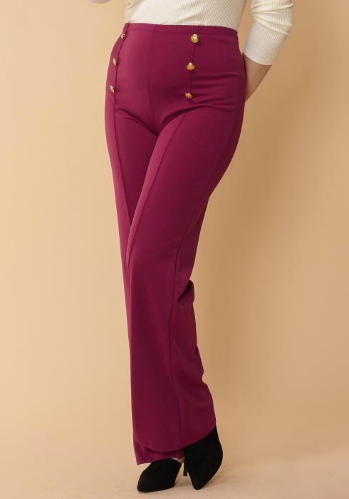 Asoph Women Clothing Plus Size High Waisted Flared Pants
