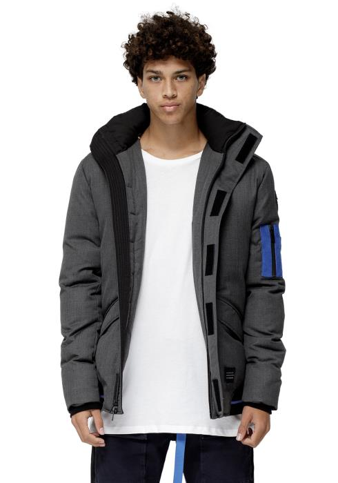 DUCK DOWN PARKA WITH DETACHABLE HOOD