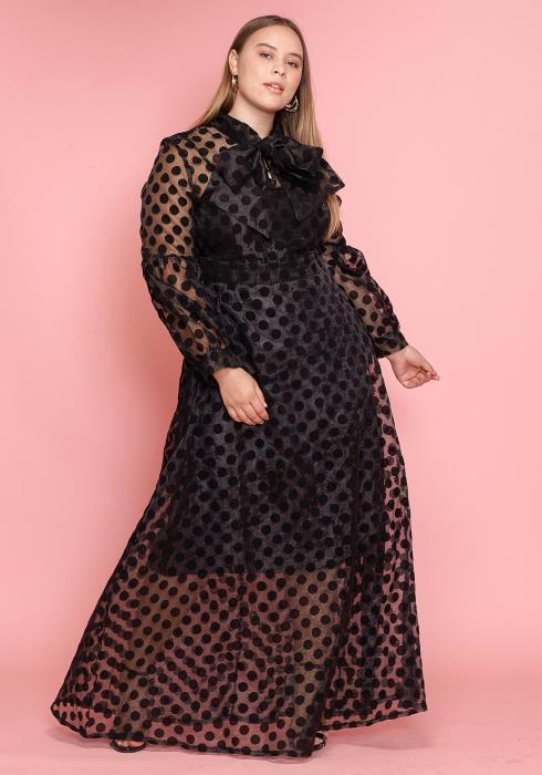 Asoph Plus Size Connect The Dots Maxi Dress