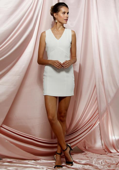 Ro&De Noir V-Neck Sleeveless Bodycon Dress Women Clothing