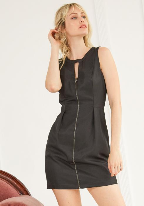 Ro&De Noir Sleeveless Keyhole Women Dress