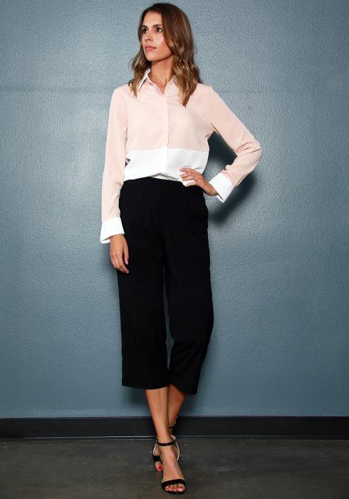 Ro&De Noir Color Block Shirt Women Clothing