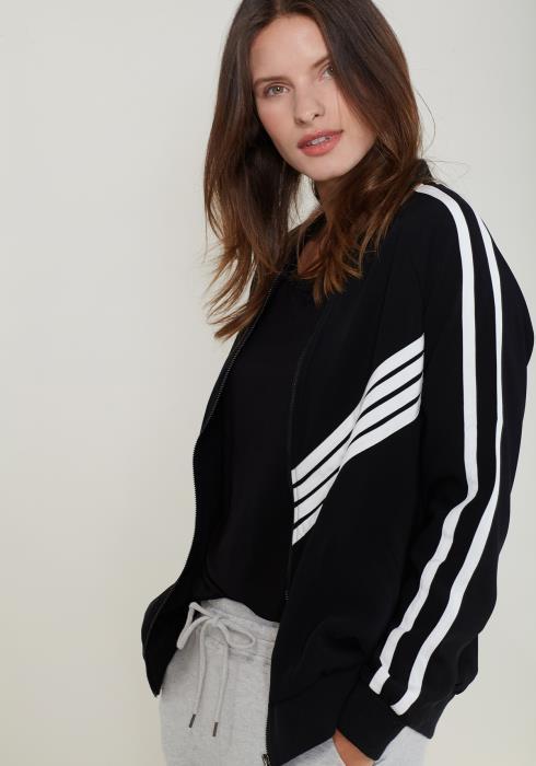 Ro&De Noir Zip Up Jersey Jacket Women Clothing