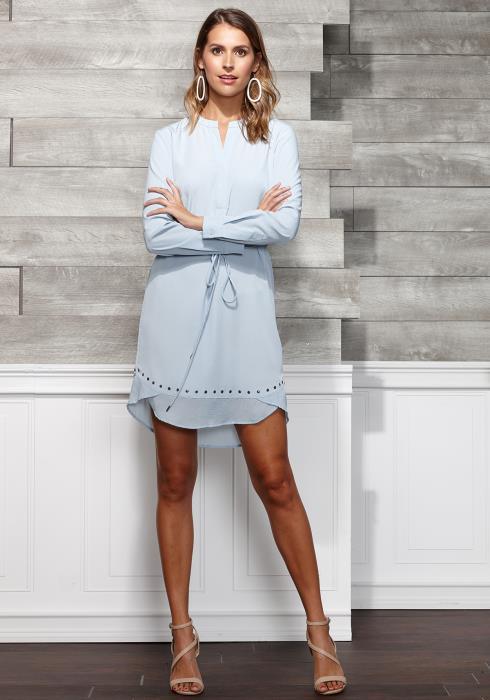 Ro&De Noir Studded Dress Women Clothing