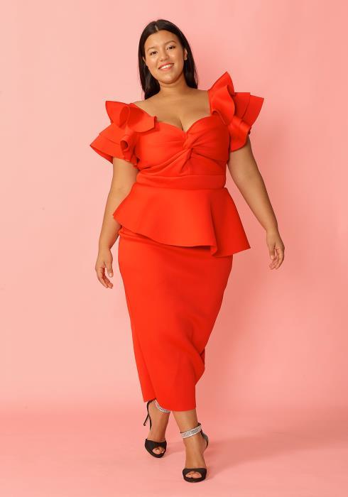 Asoph Women Clothing Plus Size Peplum Princess Dress