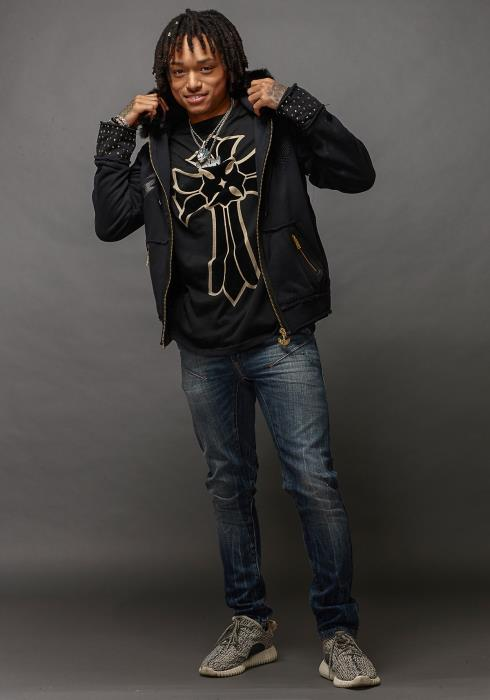 Rowdy Studded Fur Hoodie Men Clothing
