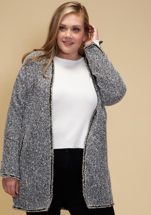 Asoph Plus Size Cozy Open Front Cardigan