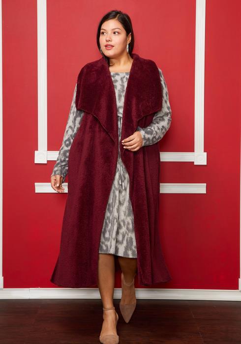 Asoph Plus Size Just Right Sleeveless Cardigan