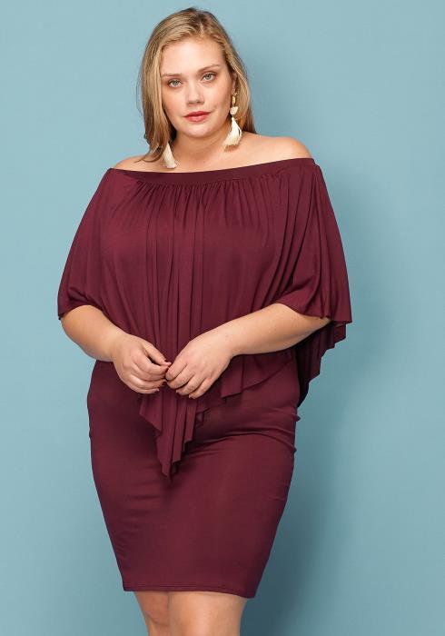 Asoph Plus Size So Divine Cape Dress