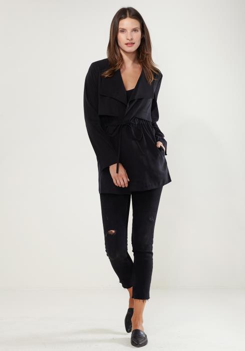 Ro&De Noir Open Front Jacket