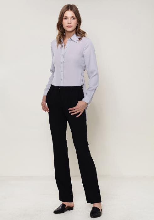 Ro&De Noir Straight Mid-Waisted Pants