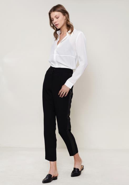 Ro&De Noir Leather Binding Pants