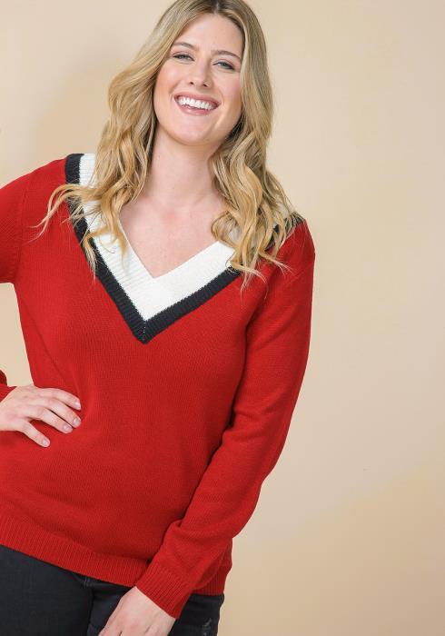 Asoph Plus Size V-Neck Cozy Sweater