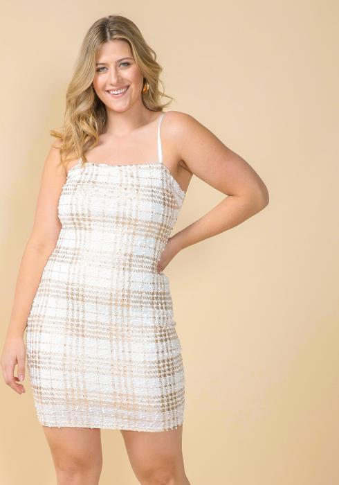 Asoph Plus Size Plaid Mini Dress