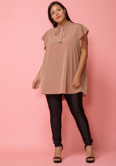 e9ca2b0fb90 Asoph Plus Size Sheer Net Mock Neck Sleeveless Bodysuit