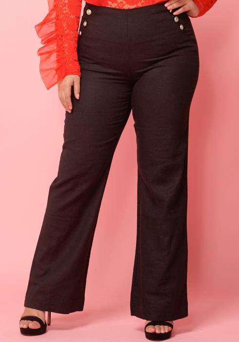 Asoph Plus Size Sailor High Waist Pants