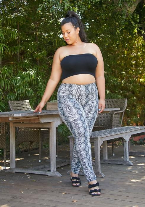 Asoph Plus Size Snake Print Leggings