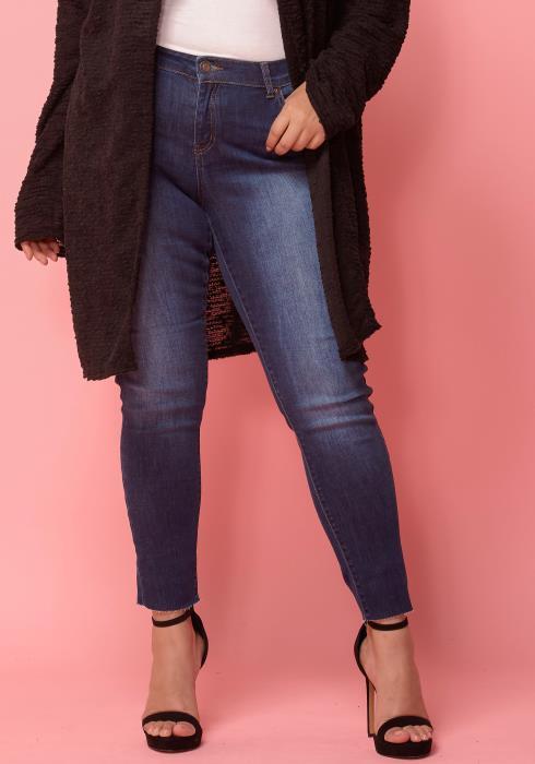 Asoph Plus Size Mid - Waist Skinny Denim