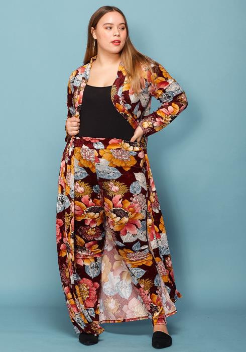Asoph Plus Size Floral Cardigan & Leggings Set