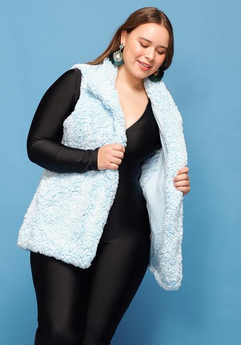 Asoph Plus Size Fur Vest