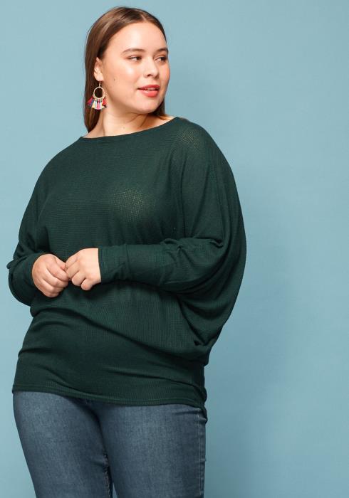 Asoph Plus Size Dolman Sleeve Loose Sweater