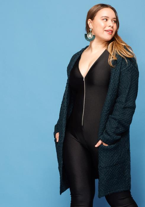 Asoph Plus Size Open Front Sweater Cardigan