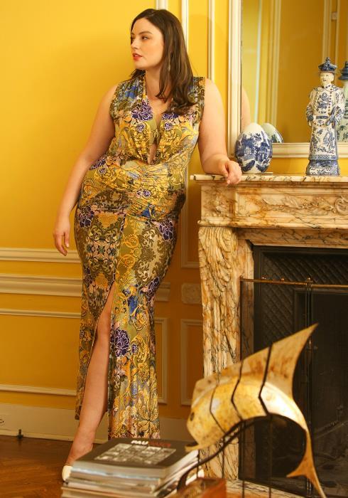 Asoph Plus Size Open Front Sleeveless Maxi Mermaid Dress