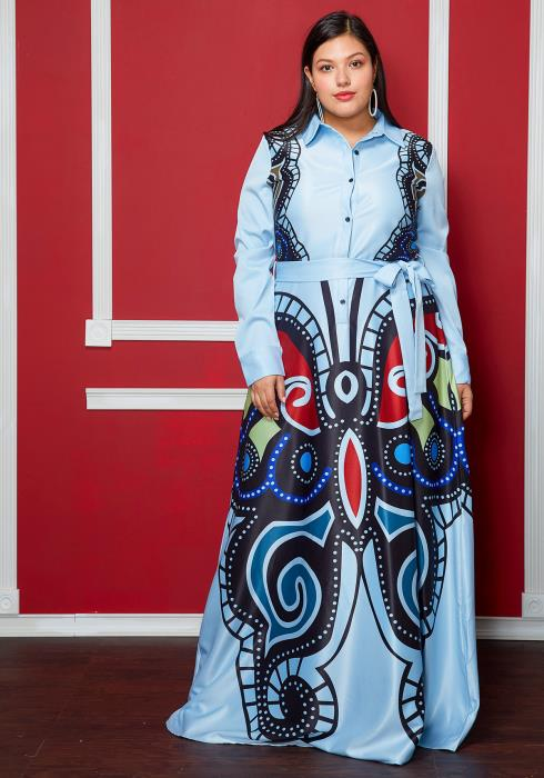 Asoph Plus Size Empress Butterfly Dress