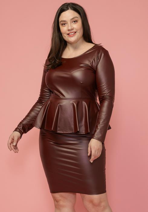 Asoph Plus Size Peplum Style Mini Dress
