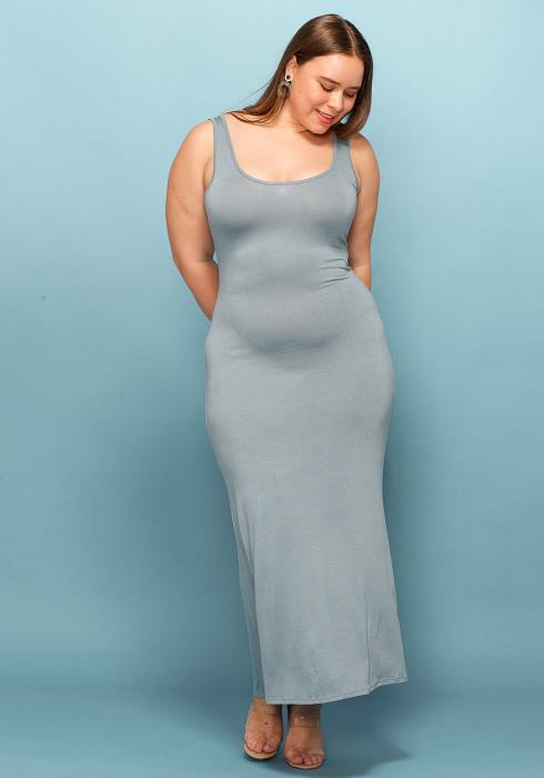 Asoph Plus Size Basic Tank Everyday Maxi Dress