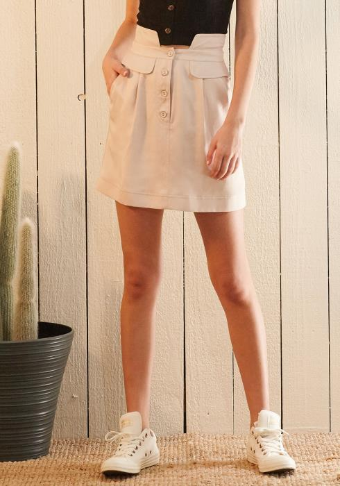 Nurode High Waisted Utility Skirt