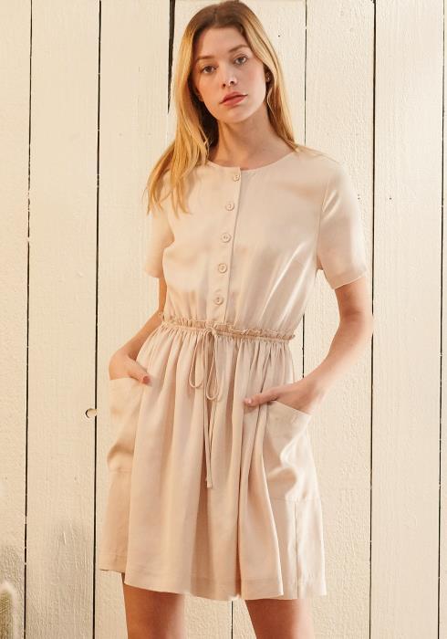 Nurode Short Sleeve Utility Dress