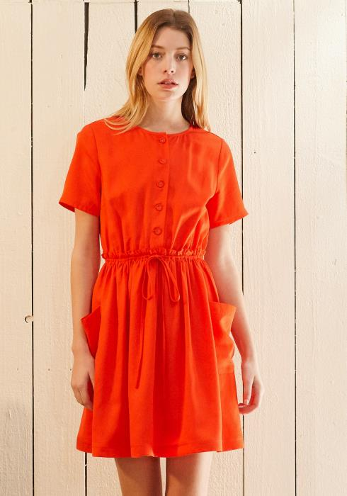 Nurode Short Sleeve Utility Dress