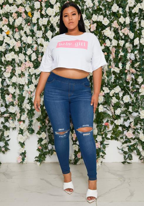 Asoph Plus Size Stretchy Jeggings