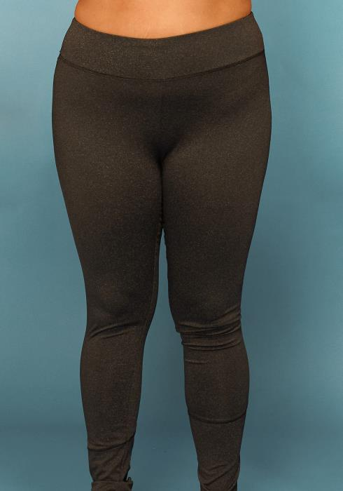 Asoph Plus Size Strappy Hem Leggings