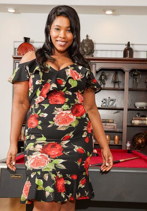 Asoph Plus Size Off Shoulder Ruffle Floral Dress