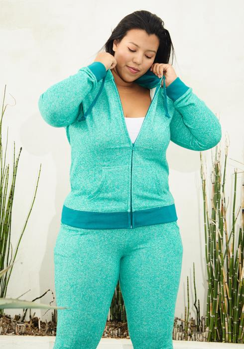 Asoph Plus Size Zip Up Hoodie