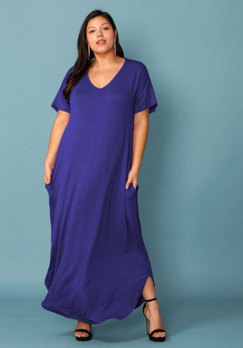 Asoph Plus Size Long Basic Dress