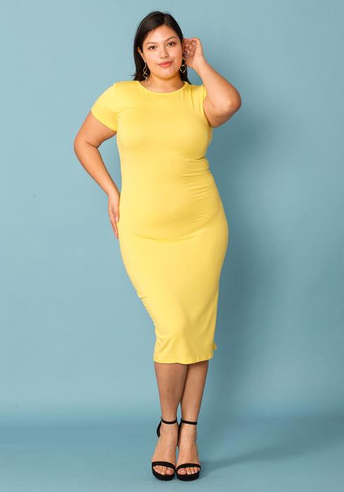 Asoph Plus Size Super Simple Midi Dress