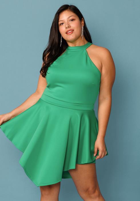 Plus Size Halter Neck Party Dress