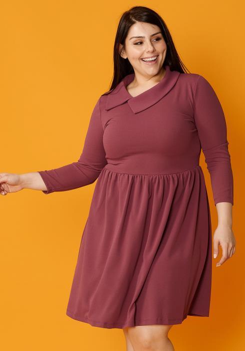 Asoph Plus Size Retro Fit Flared Dress